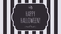 Black White Stripes Halloween Party Gift Tag Halloween Party