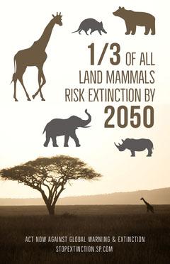 wildlife extinction awareness poster Awareness