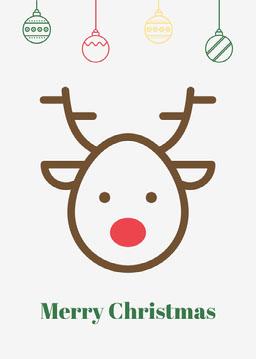 White Rudolf Christmas Card jeff-test-5