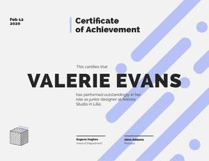Blue Junior Designer Achievement Certificate Certificate of Achievement