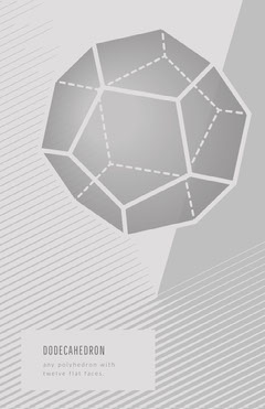 Grey and White Dodecahedron Worksheet Science