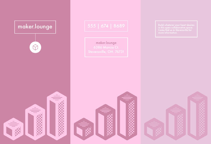 Pink Creative Lounge Brochure Ideias de panfletos