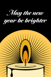 Black & Yellow Brighter Future Card Happy New Year Quotes