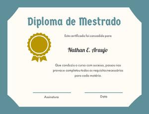 Diploma de Mestrado Diploma