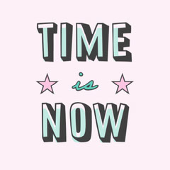 Pink Teal and Blue Time is Now Instagram Square Stars