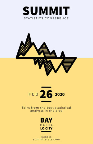 Yellow Graph Business Analyst Statistics Conference Event Flyer Conference Flyer