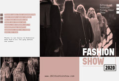 Pink Filter & Grey Fashion Show Brochure Shows