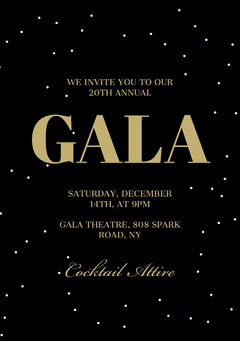 Winter Events Gala Invite A5 Gala Flyer