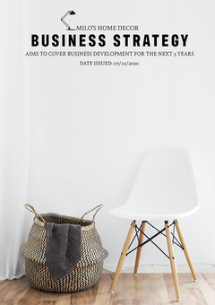 Minimal Style Home Decor Company Business Plan Cover Sweet Home