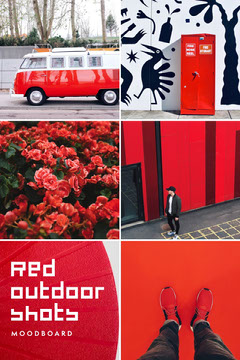 red outdoor moodboard  Shoes