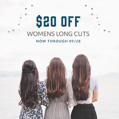 White, Blue, Light Toned Woman Hairdresser Ad Instagram Post Barber