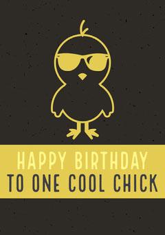 Happy birthday to one cool chick Birthday