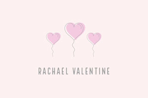 Balloon Heart Valentines Name Tag Namensschild