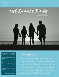 Blue Family Times Newsletter Family Reunion