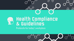 Teal and Gray Health Compliance & Guidelines Health Poster