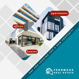 Blue Modern Style Real Estate Agency Instagram Square Ad Profilbild