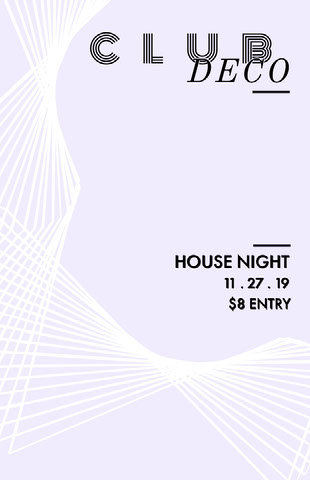 White, Grey and Black, Minimalistic Club Party Flyer Club Flyer