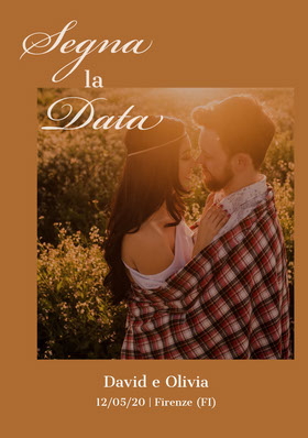 couples photo save the date card Partecipazione