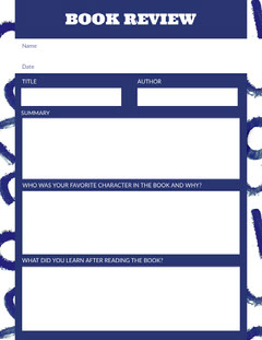 Book Review Worksheet Classroom