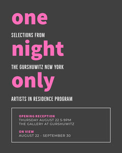 one<BR>night<BR>only Art Show
