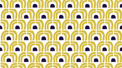 Golden Arches Art Deco Pattern Zoom Background Gold