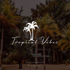 Grey Overlay Palm Trees Tropical Vibes Instagram Square  Trees
