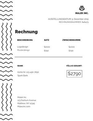 branding invoice  Rechnung