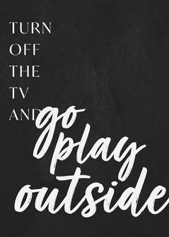 Black and White, Go Play Outside, Poster Play Poster
