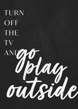 Black and White, Go Play Outside, Poster