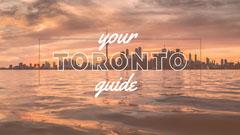 White With City View Toronto Youtube Thumbnail Sunset