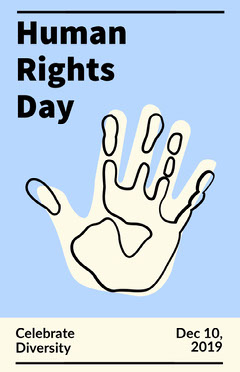 human rights day poster Celebration