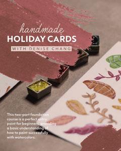 Light Toned Holiday Cards Craft Workshop Instagram Portrait Holiday