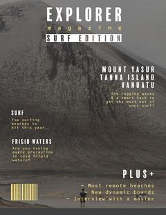 Grey Explore magazine Cover Surfing