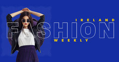 Blue Fashion Weekly Facebook Cover Fashion Magazines Cover