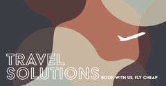 Brown Toned Travel Ad Facebook Banner Planes
