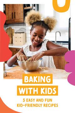 Girl Baking Photo Recipes for Kids Pinterest Graphic Kids