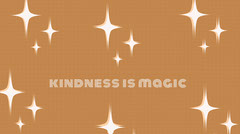 kindness is magic twitter banner  Typography