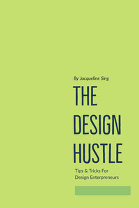 Green and Blue The Design Hustle Book Cover Copertina libro