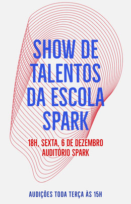 talent show school poster Panfletos