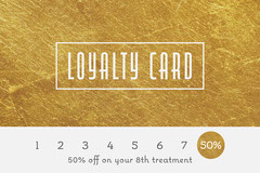 Gold Foil & Grey Loyalty Card  Gold