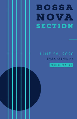 BOSSA NOVA SECTION Concertposter