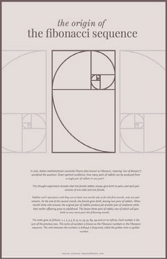 Grey Fibonacci Sequence Poster History