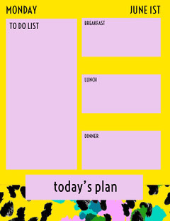 today's plan  Yellow