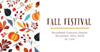 White and Colorful Leaves Fall Festival Social Post Tamaño de Imagen de Facebook