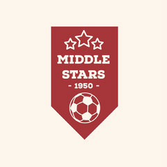 Red Soccer Team Badge Soccer