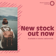 Pink New Stock Instagram Square Clothing