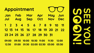 Yellow and Black Appointment Card Appointment Card