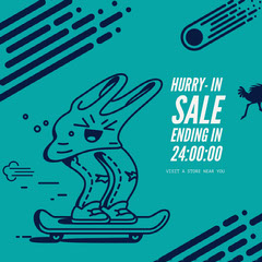Hurry- in<BR>Sale ending in <BR>24:00:00 Sale Flyer
