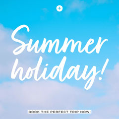 Blue Sky Summer Holiday Instagram Square Sky