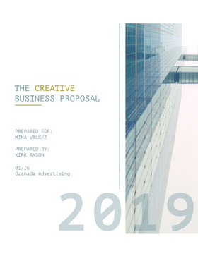 Modern Business Proposal with Office Building Offerta